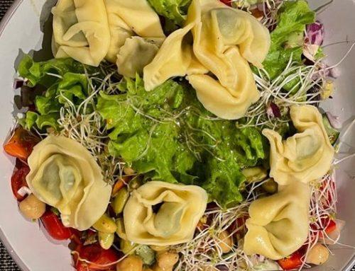 Power Salat zum Abendessen